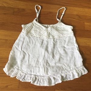 White Lace Detailed Flounce Cami